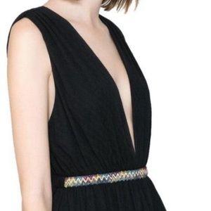 zara sexy black boho maxi dress